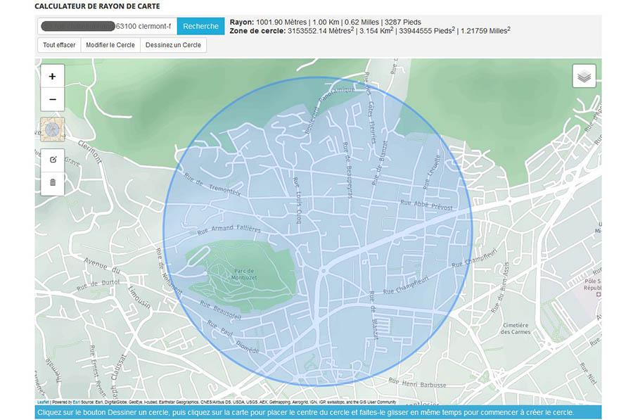 la carte de sortie loisirs autorisée de 1 km de rayon pendant le covid-19. Une heure par jour, très restrictif...